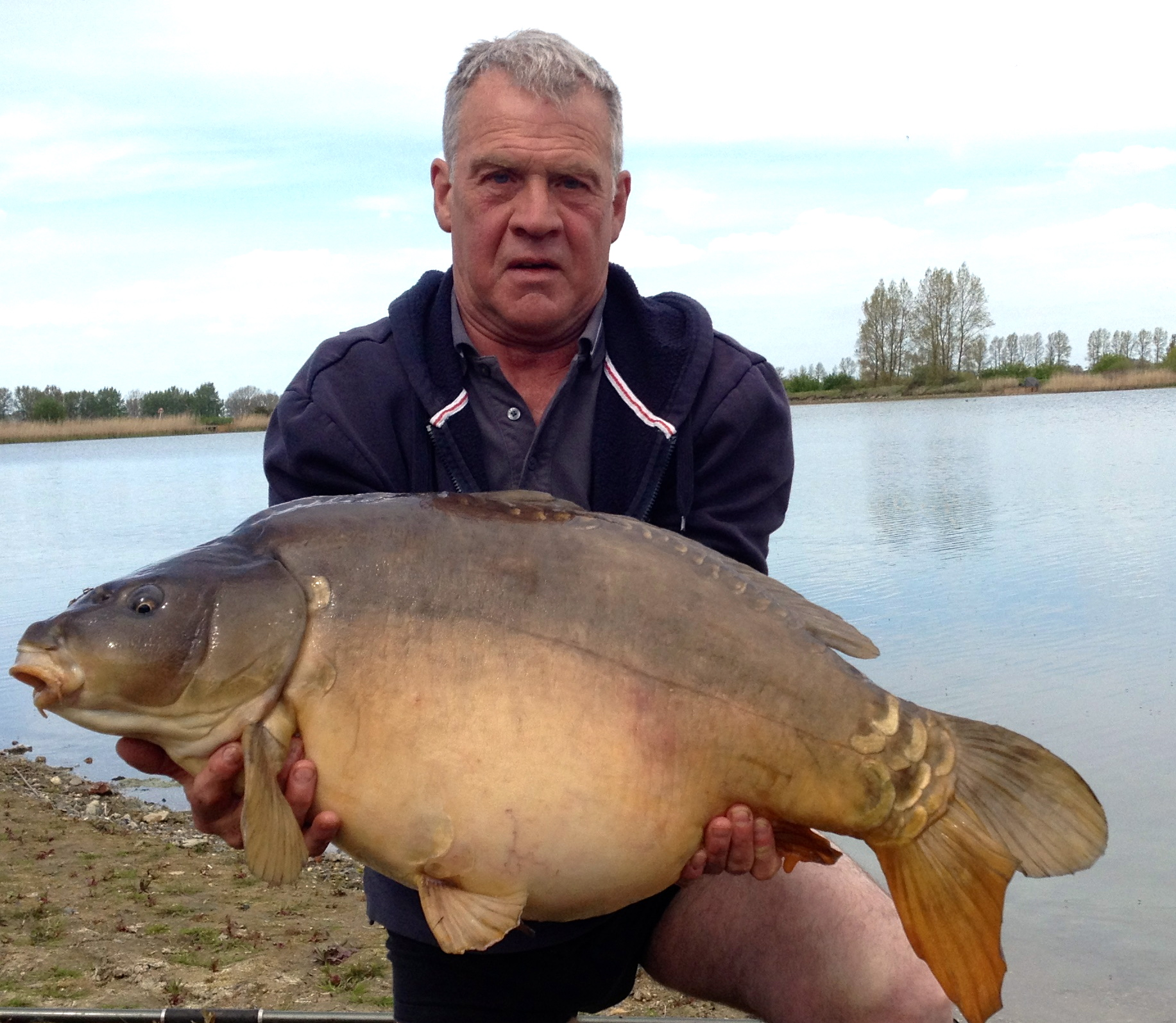 Syndicate leader Roy Walker had a take after 20 minutes of setting up and ended up landing this nice 38 pounder.